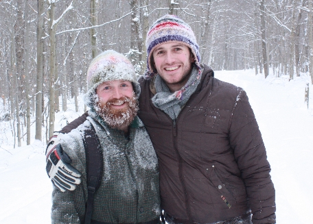 Aaron and Chris in the snow