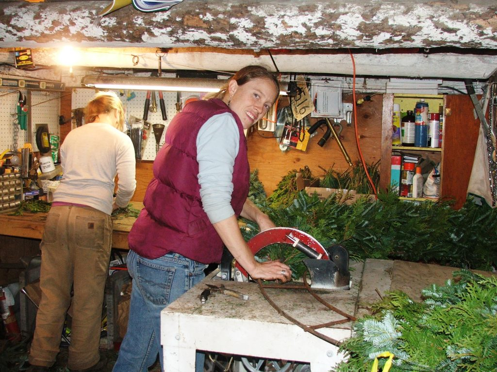 Wreathmaking in Vermont