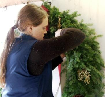 Have your custom wreath made on site.